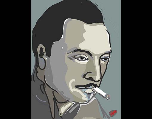 Django Illustration 2 by Irene Ypenburg