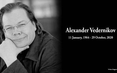 IN MEMORIAM: REMEMBERING ALEXANDER VEDERNIKOV (11 JANUARY, 1964 – 29 OCTOBER, 2020)