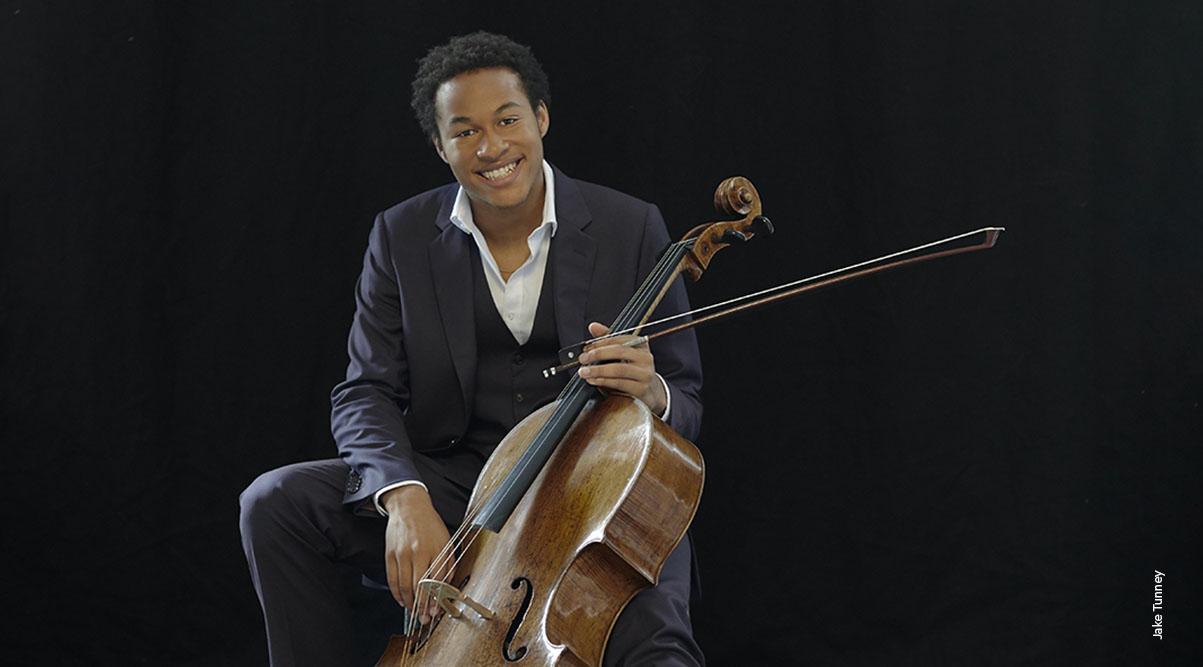 Sheku Kanneh-Mason with cello