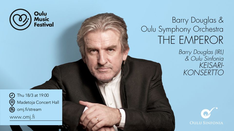 Watch Barry Douglas at the Oulu Music Festival on 17, 18 & 21 March