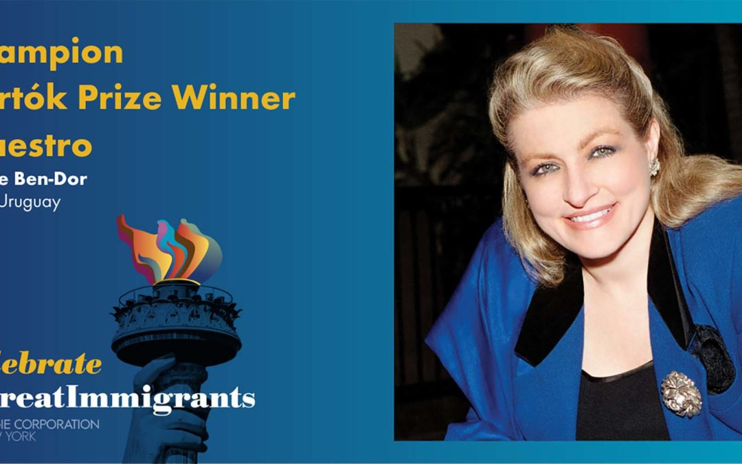 """Gisèle Ben-Dor Named a Carnegie Corporation """"Great Immigrants"""" Class of 2021"""